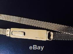 Gucci Belt Gold Plated Metal Mesh Snake Chain Skinny Tom Ford Super Rare