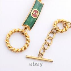 Gucci Vintage Chain Belt Gold Plated Gold