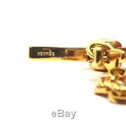 HERMES Filou Gold Metal Plated Glove Clip Accessory Good Condition (Retail $355)