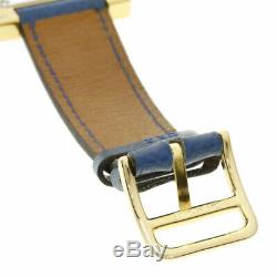 HERMES H watch Watches HH1.201 Gold Plated/Leather Ladies