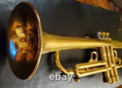 Harrelson Bravura Custom trumpet (3)tuning slides engraving GOLD PLATED