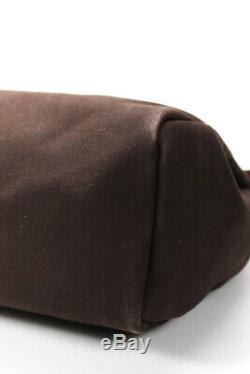 Hermes Mens Brown Toile Canvas Herbag GM Gold Plated Hardware Messenger Bag
