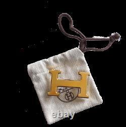 Hermes Plated Gold Calandre Buckle H 32mm