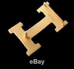 Hermes Plated Yellow Gold Shiny Buckle H 32mm, New