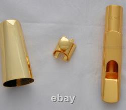 High grade B# Model Metal Tenor Sax Saxophone Mouthpiece Gold plated MPC 5-9