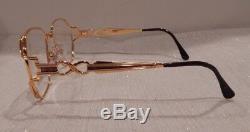 Hilton Lady Hilton 816 Gold 54/16 24KT Gold Plated Eyeglass Frame New Old Stock