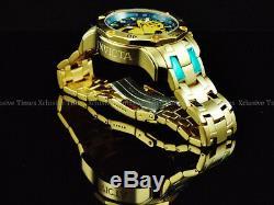 INVICTA Men's MOTO Scuba 3.0 Chronograph 18K Gold Plated SS Bracelet Watch