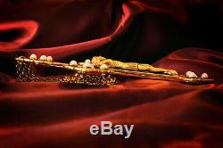 Indiana Jones CROSS OF CORONADO prop replica! 24K Gold-Plated Metal
