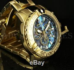Invicta 47mm Subaqua Noma II ABALONE Dial Ltd Ed 18K Gold Plated Bracelet Watch