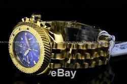 Invicta 50MM Gearhead Jason Taylor Limited Ed. Gold Plated Chrono JT Blue Watch