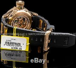 Invicta 52mm Russian Diver MECHANICAL 18K Rose Gold Plated S. S Chrono Poly Watch