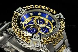 Invicta 53mm Reserve Bolt Hercules Swiss Silver Gold Plated Blue Chrono Watch