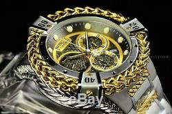Invicta 53mm Reserve Bolt Hercules Swiss Silver Plated Gun Metal Chrono Watch