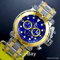 Invicta Coalition Forces Blue 2 Tone Gold Plated Stainless Steel 52mm Watch New