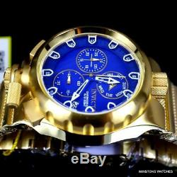 Invicta Coalition Forces Sniper Gold Plated Steel Blue Chronograph Watch New