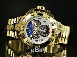 Invicta Excursion TWISTED METAL Retrograde Chronograph Caged Dial 18KGP SS Watch