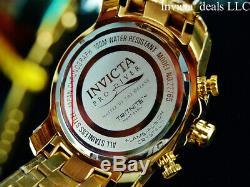 Invicta Men 50mm Pro Diver SCUBA 3.0 Chronograph Blue Dial 18K Gold Plated Watch