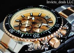 Invicta Men's 48mm PRO DIVER AIRFOIL Chronograph Rose Two Tone Plated SS Watch