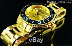 Invicta Men's 50mm Grand Diver Automatic Gold Dial 18K Gold Plated 300m SS Watch