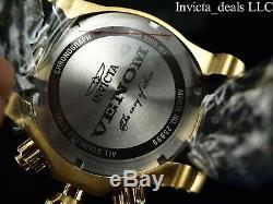 Invicta Men's 52mm VENOM Swiss Chronograph Blue Dial 18K Gold Plated SS Watch