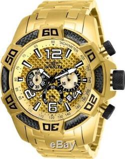 Invicta Men's Watch Pro Diver Scuba Gold Tone Dial Plated Steel Bracelet 25854