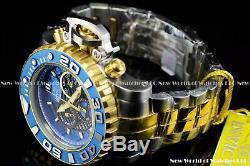 Invicta Mens 70mm Full Sea Hunter III Blue Swiss Movement Two Tone Plated Watch