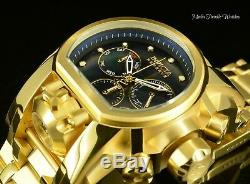 Invicta Reserve 52mm Bolt Zeus BLACK M. O. P DIAL MAGNUM 18K Gold Plated Watch