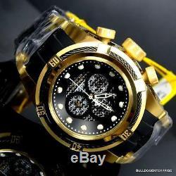 Invicta Reserve Bolt Zeus 51mm Gold Plated Black Carbon Fiber Chrono Watch New