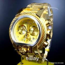 Invicta Reserve Bolt Zeus Magnum 18kt Gold Plated Dual Swiss Mvt Dials Watch New
