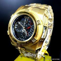 Invicta Reserve Bolt Zeus Tria 3 Swiss Dials Gold Plated 56mm Black Watch New