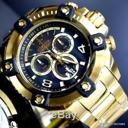 Invicta Reserve Grand Octane 18kt Gold Plated Black MOP Swiss Mvt 63mm Watch New