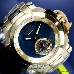 Invicta Reserve Man of War Tourbillon Mechanical MOP Gold Plated 54mm Watch New
