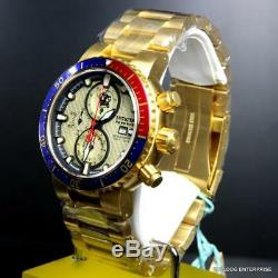 Invicta Reserve Scuba Sea Base Swiss Made 47mm Gold Plated Sapphire Watch New
