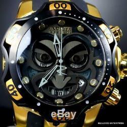 Invicta Reserve Venom DC Comics Joker Gold Plated Black 52mm Swiss Mvt Watch New