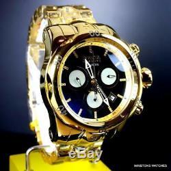 Invicta Reserve Venom High Polish Gold Plated MOP Diamond Marker 52mm Watch New