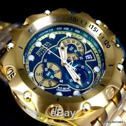 Invicta Reserve Venom Hybrid 52mm Gold Plated Steel Swiss Mvt Green Watch New