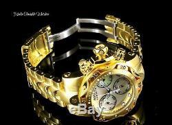 Invicta Reserve Womens 44mm Venom Gold Plated Swiss Chronograph Bracelet Watch