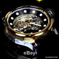 Invicta Russian Diver Ghost Bridge Automatic Gold Plated Exhibition Watch New