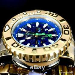 Invicta Sea Hunter Gen II Swiss High Polish Gold Plate Steel 70mm Blue Watch New
