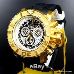 Invicta Sea Hunter III Black Gold Plated 70mm Full Sized Chronograph Watch New
