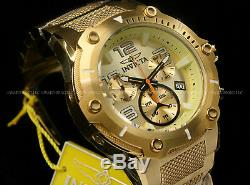 Invicta Speedway XL VIPER RondaZ60 Movt Champagne Dial 18K Gold Plated S. S Watch