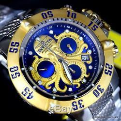 Invicta Subaqua Noma III Octopus Gold Plated Swiss Mvt Steel Blue 50mm Watch New
