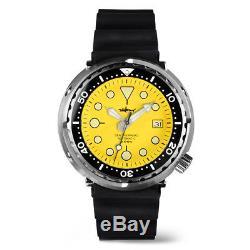 Japan Tuna Can pro Divers Automatic wrist watch Mens SBBN015 Sharkey Military