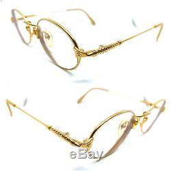 Jean Paul Gaultier 55-0183 Gold Plated JPG Vintage Eyeglasses Sunglasses 20528
