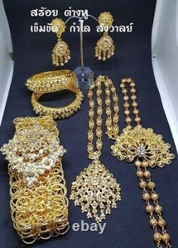 Jewelry Ramthai 6 Pcs Jewelry Thai Dress Wedding Dance Gold Plate Costume