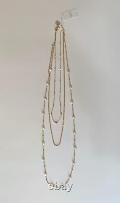 Kendra Scott Scarlet Gold-Plated Multi Strand Necklace In White Pearl