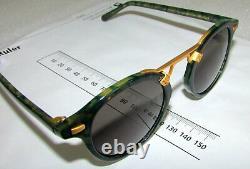 Krewe Sunglasses St. Louis Classics Grey Ivy 24k Gold Plated 46-23-145