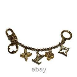 LOUIS VUITTON Fleur de Monogram bag charm M65111 plating Gold Used LV
