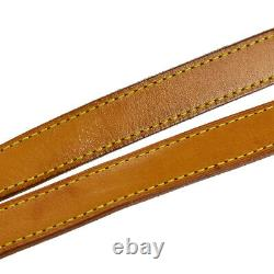 LOUIS VUITTON Shoulder Bag Strap Leather Brown Gold Plated Accessory 09MK624