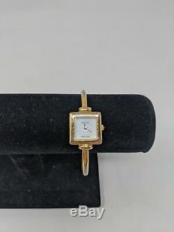 Ladies Gucci 1900L Swiss Gold Plated Quartz Bangle Watch